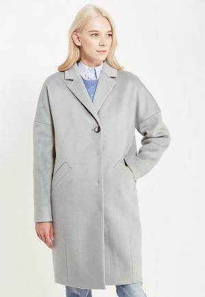 Пальто pompa. Цвет: голубой