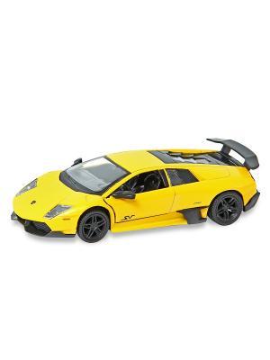 Машина металлическая Lamborghini Murcielago LP 670-4 SV, 1:32. HOFFMANN. Цвет: желтый