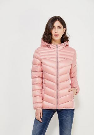 Пуховик Tommy Jeans. Цвет: розовый
