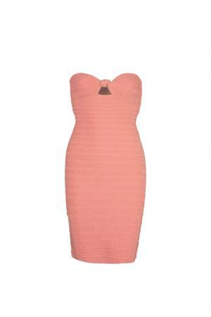 Платье Arabella Hervé Léger. Цвет: розовый