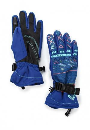Перчатки Roxy. Цвет: синий