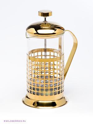 Заварочный чайник френч-пресс Bekker. Цвет: золотистый (осн.)