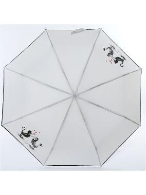 Зонт ArtRain. Цвет: серый меланж, малиновый