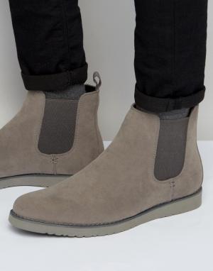 D-Struct Ботинки челси. Цвет: серый
