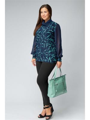 Блузка Amarti. Цвет: темно-синий, бирюзовый
