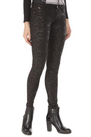 Зауженные брюки с застежкой на молнию Gaudi. Цвет: 2001черный