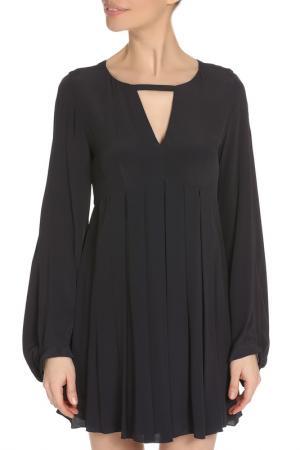 Легкое платье свободного силуэта Dondup. Цвет: тёмно-синий