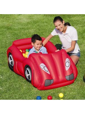 Игровой центр Машинка с шариками 119х79х51см от 2-х лет Bestway. Цвет: красный