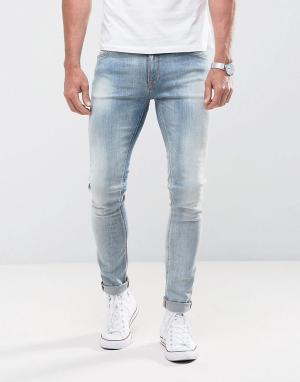 Nudie Jeans Оранжевые джинсы скинни Co Lin. Цвет: синий