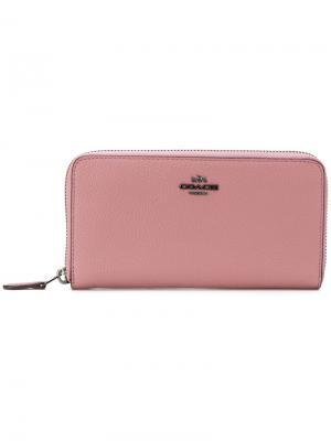 Кошелек на молнии Coach. Цвет: розовый и фиолетовый