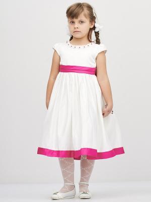 Платье Baby Moses. Цвет: белый, сиреневый