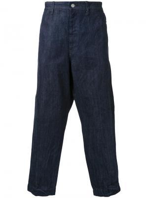 Широкие джинсы Gold. Цвет: синий