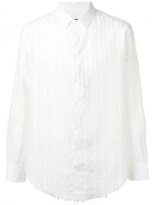 Рубашка с потертой отделкой Tom Rebl. Цвет: белый