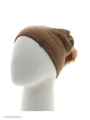 Ребека Беркле шапка женская с помпоном Berkle. Цвет: темно-коричневый