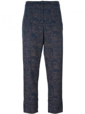 Укороченные брюки кроя слим Odeeh. Цвет: многоцветный