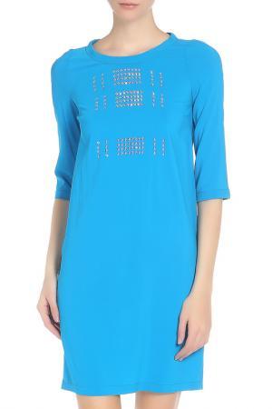 Платье WHO*S WHO. Цвет: бирюзовый