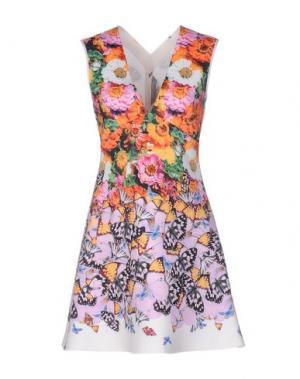 Короткое платье CLOVER CANYON. Цвет: оранжевый