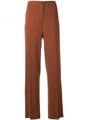 Широкие брюки Alberto Biani. Цвет: коричневый