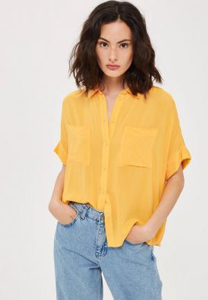 Рубашка Topshop. Цвет: желтый
