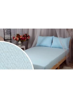 Простыня на резинке в детскую кроватку ИП Бердников Е.Г.. Цвет: голубой