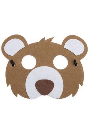 Карнавальная маска PlayToday. Цвет: коричневый, белый