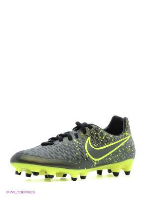 Бутсы MAGISTA ONDA FG Nike. Цвет: зеленый