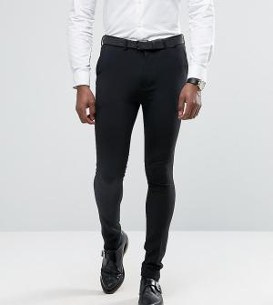 Rogues of London Супероблегающие брюки. Цвет: черный
