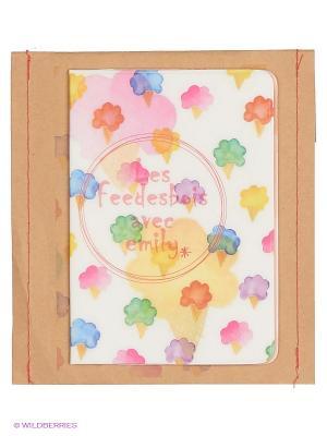 Обложка для паспорта La glace Kawaii Factory. Цвет: бежевый
