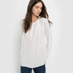 Блузка со вставками и длинными рукавами BEST MOUNTAIN. Цвет: экрю