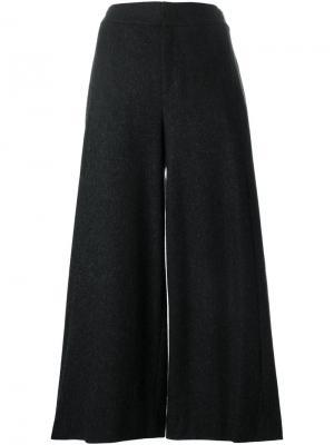 Широкие укороченные брюки Stills. Цвет: чёрный
