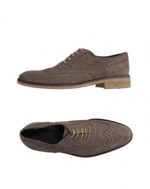 Обувь на шнурках ROCHAS. Цвет: голубиный серый