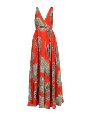 Длинное платье PAUL & JOE. Цвет: красный