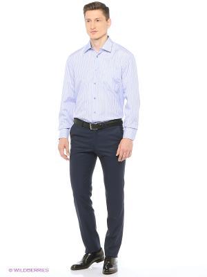 Рубашка мужская с длинным рукавом в клетку Mr. Marten. Цвет: голубой