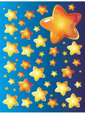 Наклейка для декора Медовые звездочки DECORETTO. Цвет: синий, желтый, оранжевый
