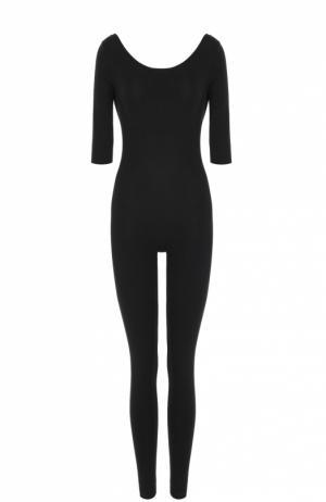Спортивный облегающий комбинезон с открытой спиной Deha. Цвет: черный