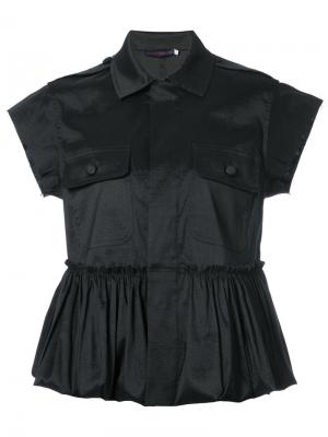 Блузка с оборками Harvey Faircloth. Цвет: чёрный