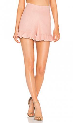 Льняные шорты jonas Karina Grimaldi. Цвет: розовый