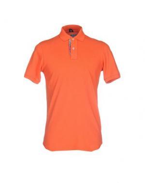 Поло MOSAIQUE. Цвет: оранжевый