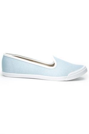 Туфли-слиперы Moleca. Цвет: голубой