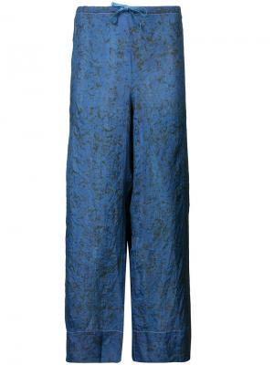 Широкие брюки Dosa. Цвет: синий