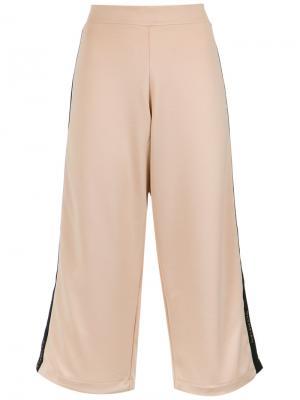 X Silvia Braz wide leg cropped trousers Olympiah. Цвет: телесный