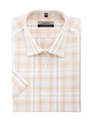 Рубашки GREG. Цвет: бежевый, белый
