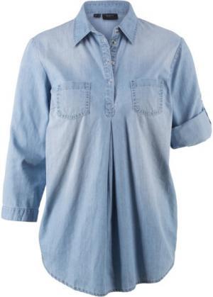 Блузка для беременных (нежно-голубой выбеленный) bonprix. Цвет: нежно-голубой выбеленный