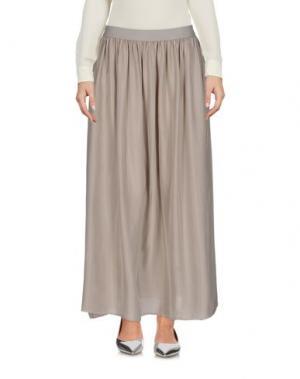 Длинная юбка ROSSOPURO. Цвет: светло-серый