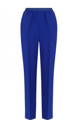 Укороченные однотонные брюки со стрелками Maison Margiela. Цвет: синий