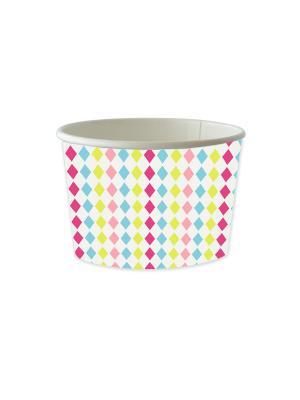 Чаша для десерта бумажная DUNICEL MIX EM UP 240 мл DUNI. Цвет: белый, синий, голубой, розовый, желтый