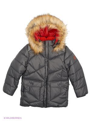 Куртка BOOM. Цвет: серый, темно-серый