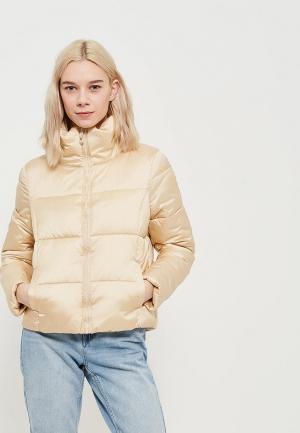 Куртка утепленная Only. Цвет: золотой
