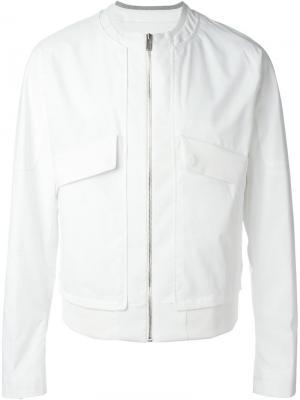 Куртка на молнии System Homme. Цвет: белый