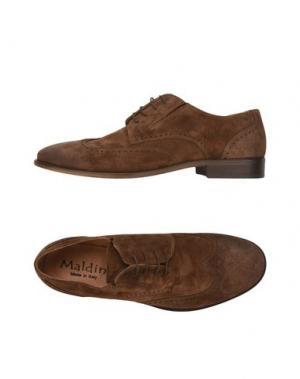 Обувь на шнурках MALDINI. Цвет: коричневый